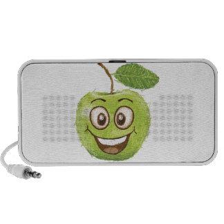 manzana verde feliz laptop altavoz