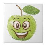 manzana verde feliz azulejos ceramicos