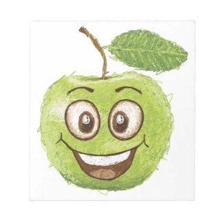 manzana verde feliz blocs de papel
