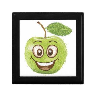 manzana verde feliz cajas de joyas