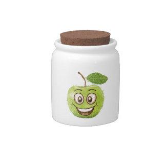 manzana verde feliz jarras para caramelos