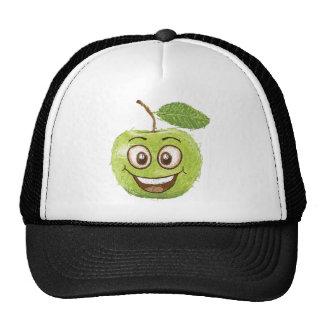 manzana verde feliz gorro de camionero