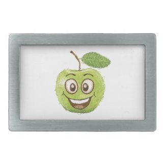 manzana verde feliz hebillas de cinturón rectangulares
