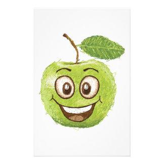 manzana verde feliz  papeleria de diseño