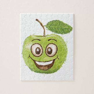 manzana verde feliz rompecabeza con fotos