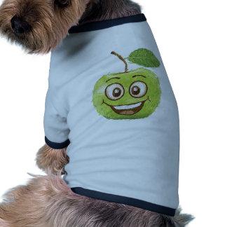 manzana verde feliz camisetas de perro