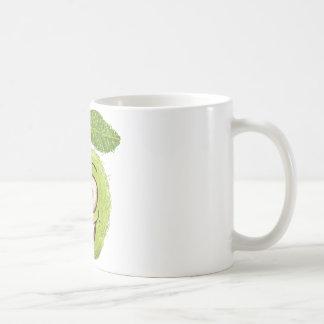 manzana verde feliz tazas de café
