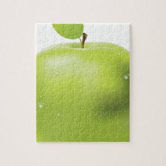 Manzana verde fresca puzzle