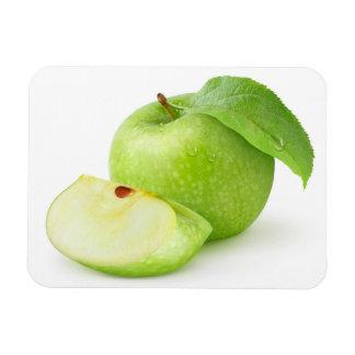 Manzana verde imán rectangular