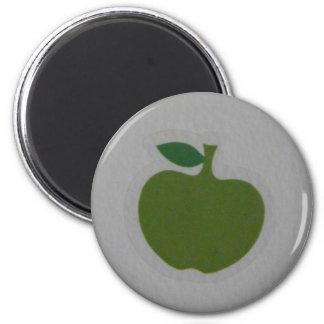 manzana verde imán redondo 5 cm