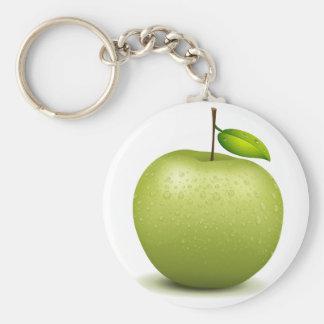 Manzana verde llavero personalizado