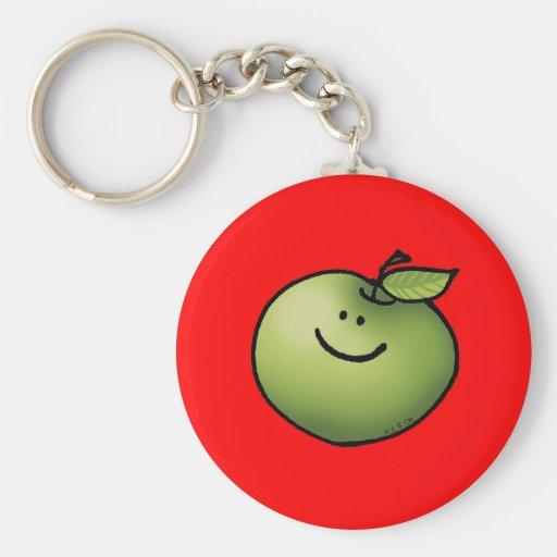 Manzana verde llaveros