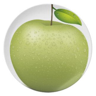 Manzana verde platos de comidas
