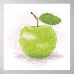 manzana verde poster
