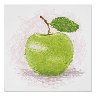 manzana verde póster