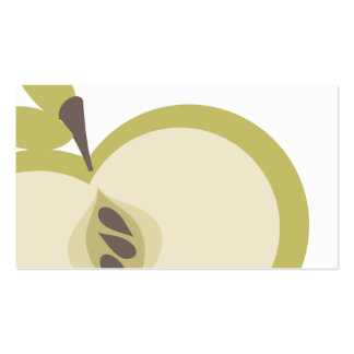 manzana verde que cocina negocio culinario de la tarjetas de visita