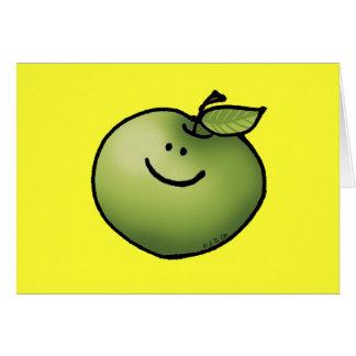 Manzana verde tarjetas