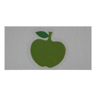 manzana verde tarjeta fotográfica