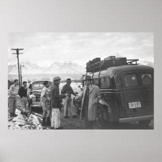 Manzanar Departure: 1943 Poster