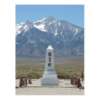 Manzanar Monument Postcard
