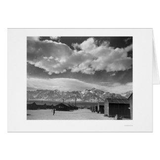 Manzanar Street Scene, Clouds 1943 Card
