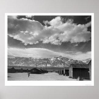 Manzanar Street Scene, Clouds 1943 Poster