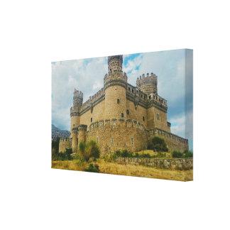 Manzanares el Real Castle, Madrid Gallery Wrap Canvas