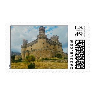 Manzanares el Real Castle, Madrid Stamp