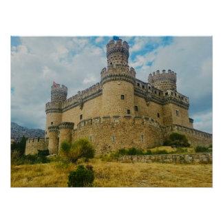 Manzanares el Real Castle, Madrid Perfect Poster
