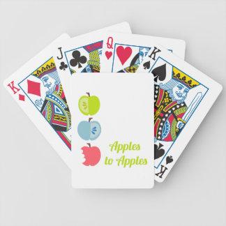 Manzanas a las manzanas cartas de juego
