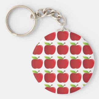 Manzanas a las manzanas llavero redondo tipo pin