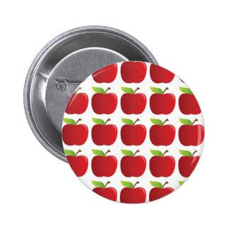 Manzanas a las manzanas pin redondo de 2 pulgadas