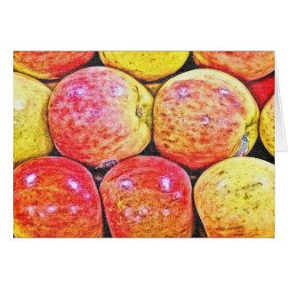 Manzanas, acción de gracias tarjeta de felicitación