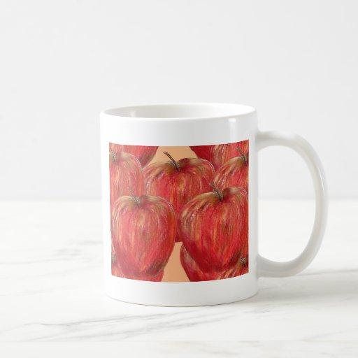 Manzanas al modelo de las manzanas taza