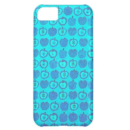 Manzanas azules impresionantes en un diseño del ar funda para iPhone 5C