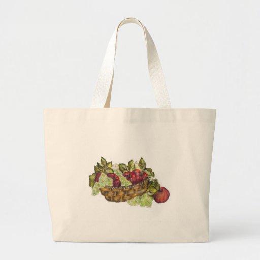 manzanas bolsa tela grande
