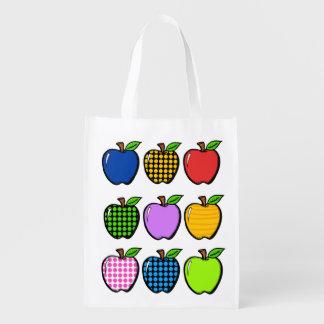 Manzanas brillantes ultramarinos, regalo, bolso bolsa reutilizable