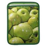 Manzanas brillantes verdes manga de iPad