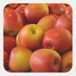 Manzanas Calcomania Cuadradas Personalizada