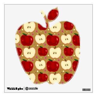 Manzanas cortadas rojo vinilo