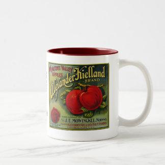 Manzanas de Alexander Keilland Taza De Dos Tonos