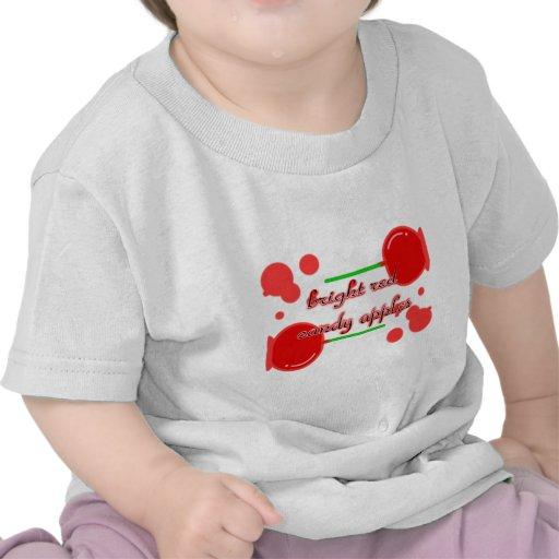 manzanas de caramelo camisetas