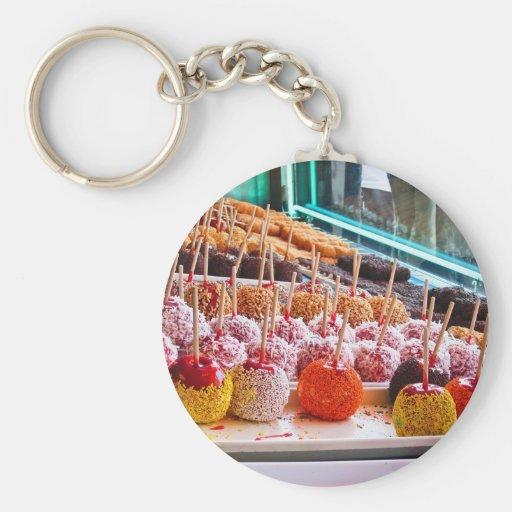 Manzanas de caramelo - Coney Island, NYC Llaveros