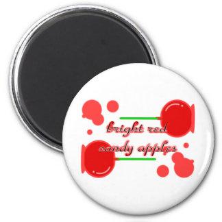 manzanas de caramelo imán redondo 5 cm