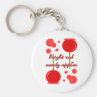 manzanas de caramelo llavero redondo tipo pin