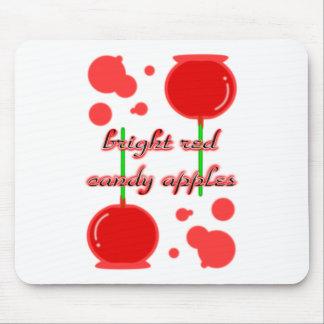 manzanas de caramelo mouse pad