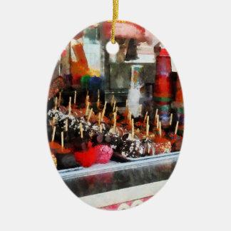 Manzanas de caramelo ornamento para reyes magos