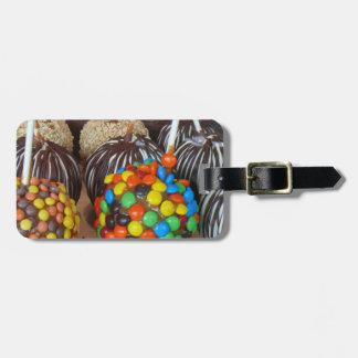 Manzanas de caramelo personalizadas etiquetas bolsas