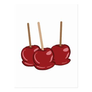 Manzanas de caramelo postales