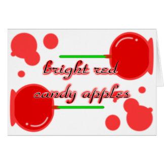 manzanas de caramelo tarjeta de felicitación